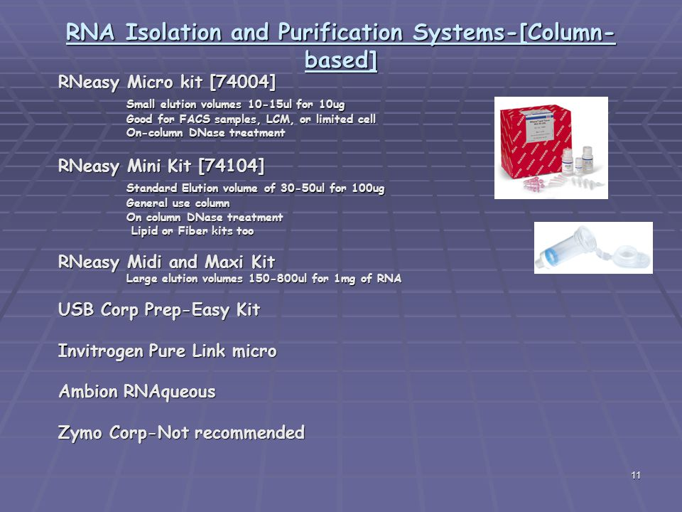 RNA Isolation and Purification Systems-[Column-based]